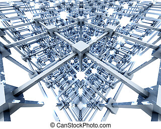 The Grid	 - 3D rendered Illustration. A glowing grid.