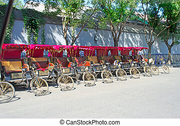 parking trishaw in the old city of Beijing, China