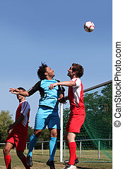Portrait of football match