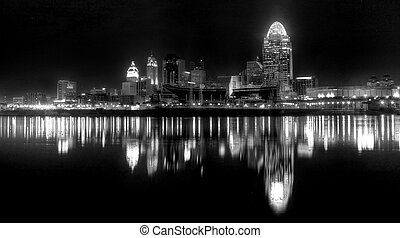 Black and White, Cincinnati Ohio - Black and white of the...