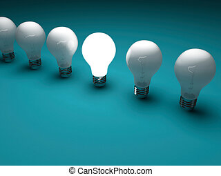 Lit bulb