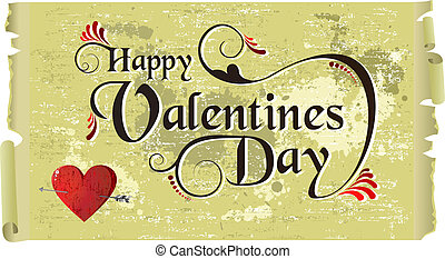 Happy Valentines day vintage background