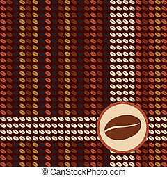 Matrix Coffee - Matrix coffee design with beans. Vector...