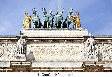 Arc de Triomphe du Carrousel - Detail of the top of the Arc...