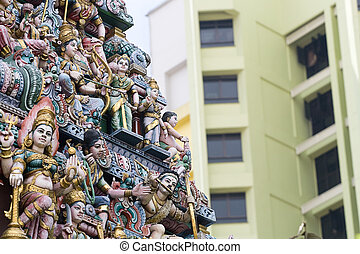Sri Veeramakaliamman Temple in Singapore - SINGAPORE – JUNE...