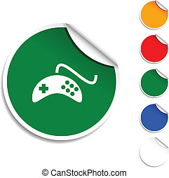 Gamepad  icon. -   Gamepad sheet icon. Vector illustration.
