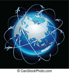 Communication Earth - Eurasia - Neon high-detailed...