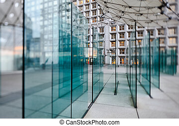 Glass design inside of hall open courtyard