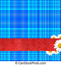 happy spring background with copy s - Geometric blue...