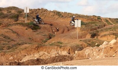 Motocross. Lesson to overcome obstacles