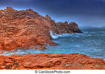 Pink Granite Coast - Beautiful landscape in Brittany in the...