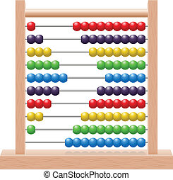 Abacus - Illustration of an abacus with rainbow colored...