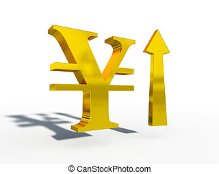 JPY Japanese yen up down course 3d