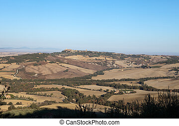 The hills around Pienza and Monticchiello Tuscany, Italy