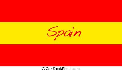 Spain. - spain flag.