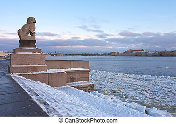 Chinese Imperial Lion in St Petersburg, Russia - Chinese...