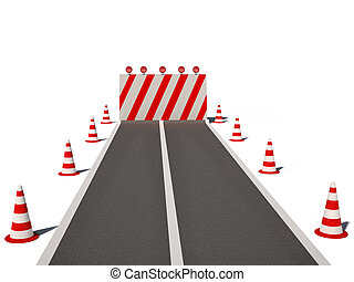 road no way traffic cones 3d cg - road no way traffic cones...