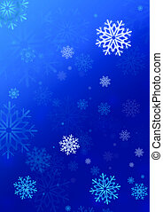 snowflake illustration for greeting card or background
