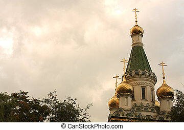 St. Nikolay's temple in Sofia - Russian Church (St. Nikolai)...