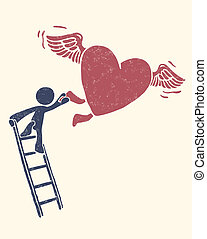 Catch your love - Vector file has 3 layers: 1-background...