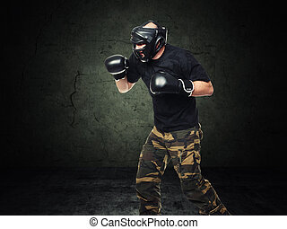 krav maga fighter