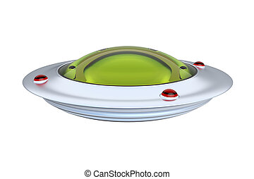 UFO isolated on white background