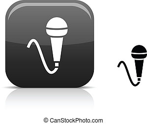 Mic icon. - .  Mic beautiful icon. Vector illustration.