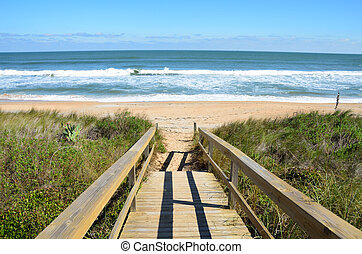 Boardwalk To The Beach - Boardwalk to the beach crossing...