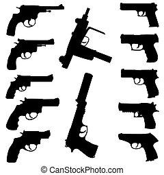 vector, armas de fuego, Conjunto