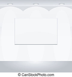 Vector illustration of Blank billboard
