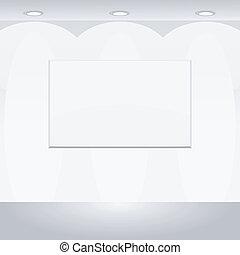 Vector illustration of Blank billboard