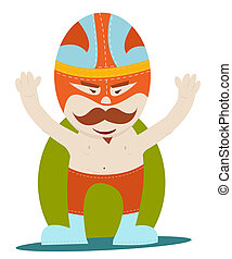 moustache wrestler - Mexican moustache wrestler