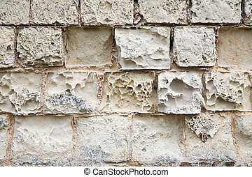 old wall made of sandstone