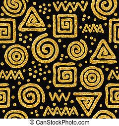 Seamless golden pattern - Seamless golden abstract pattern