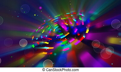 multicoloured shiny circles loop - all colours of the...