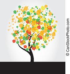 Tree Ink Splatter