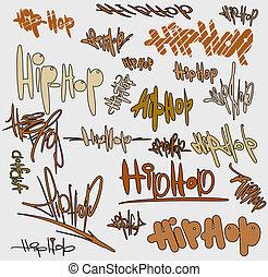 Graffiti tags urban signature