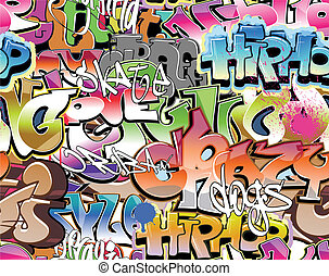 Graffiti urban background seamless