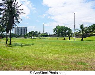Park in Manila, Philippines.