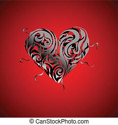 Heart design. Valentine card