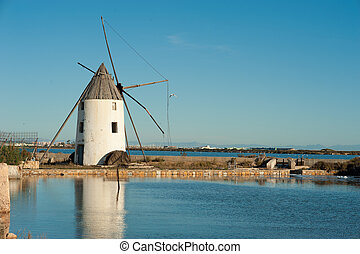 Salt marsh - Traditional salt marsh in San Pedro, Costa...