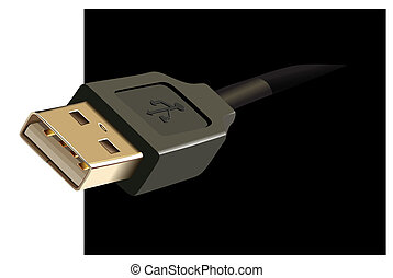 Usb cable plug vector illustration
