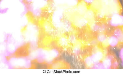 Christmas snowflakes - Random movement of sparkling...
