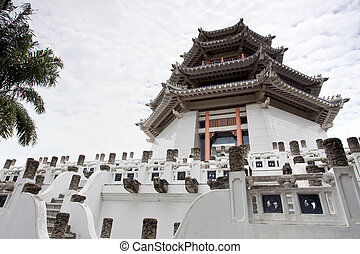 The white tower at Three kingdoms park