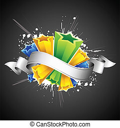 Abstract Colorful Star - illustration of blast of colorful...