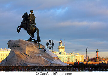Peter 1 monument in Saint-petersburg, Russia