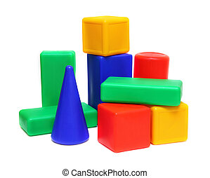 color blocks - meccano toy - variegated color blocks -...