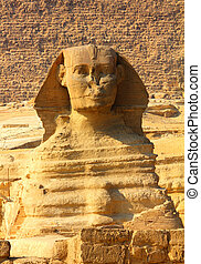 egypt sphinx and pyramid in Giza
