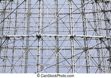 abstract steel truss - modern design