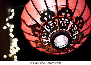 chinese new year lanterns - lanterns at night